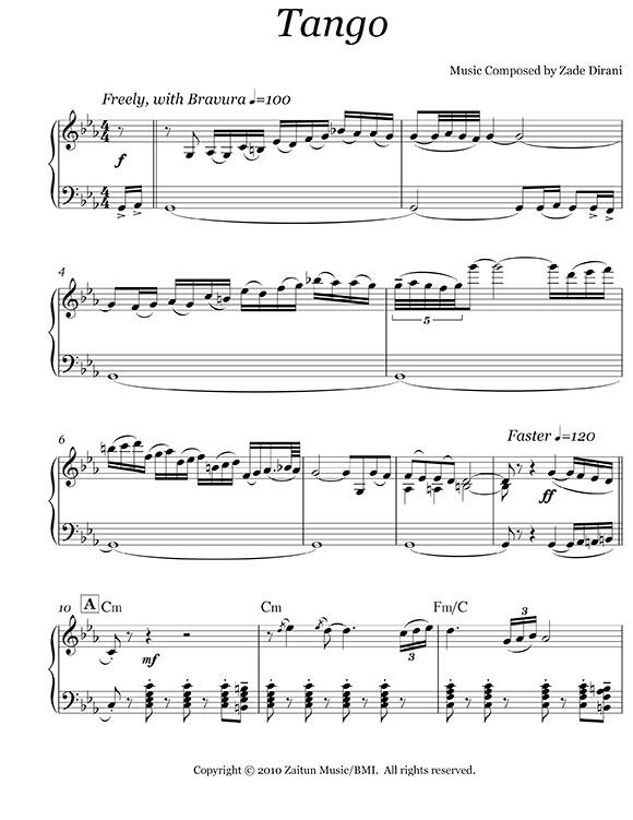 Music Sheet Tango